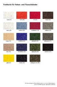 Farbkarte Klettband