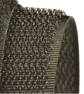 Klettband-Hakenband schwarz